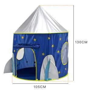 Hình ảnh Cloth Outer Space Ship Folding Toy Tent Yurt Children Play House Kids Gifts - intl