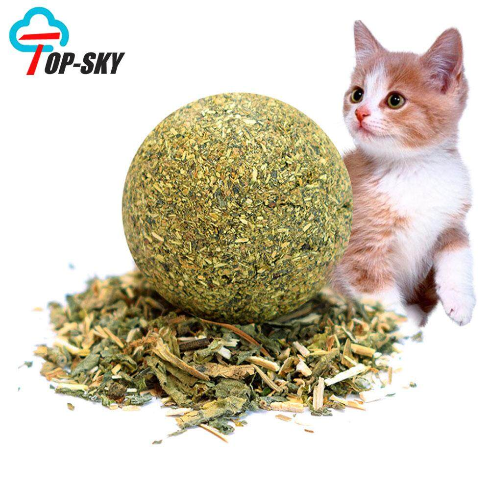 Top-Sky Compressed Catnip Cat Toy,Molar Cleaning Teeth Natural Toys(3.3cm) image on snachetto.com