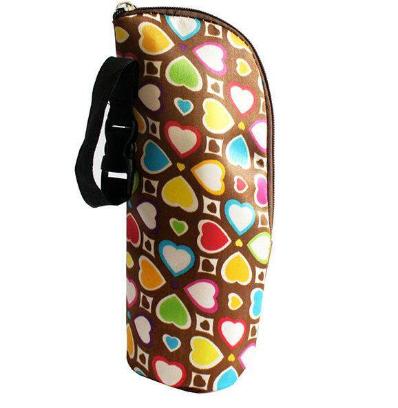 Baby Child Milk Water Feeding Bottle Warmer Cooler Insulated Stroller Bags with Hanging Tote Hand Strap Bags Thermo
