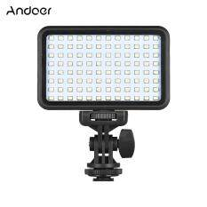Andoer PAD96 LED Video Light 6000K Dimmable Fill Light Continuous Light Panel 7.5W CRI90+ with Camera Mount and CT Filter for DSLR ILDC Cameras Light Stand for Small Product Portrait Photography