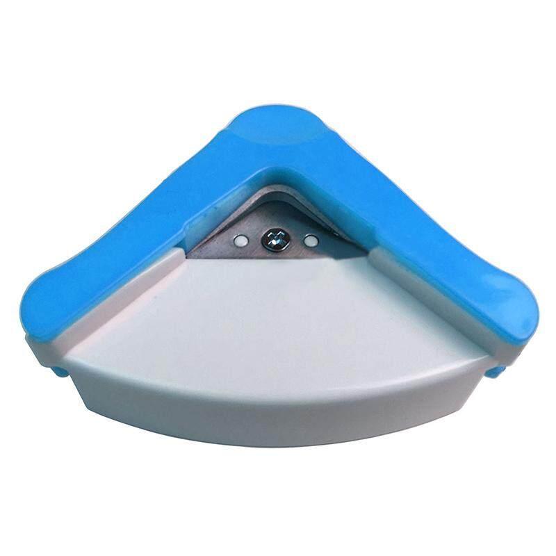 R5mm Bulat Sudut Sudut Potong Pembolong Kertas Foto Kartu Karton Cutter Alat Kerajinan Biru Putih-