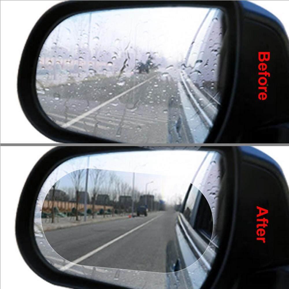 2pcs Car Rearview Mirror Anti Water Nano Film Anti Fog Rainproof Protective Film