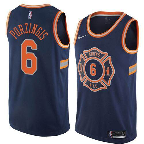 cf65f7588ca DUK NBA Men's High Quality Breathable Comfortable New York Knicks #6 City  Swingman Basketball Jersey