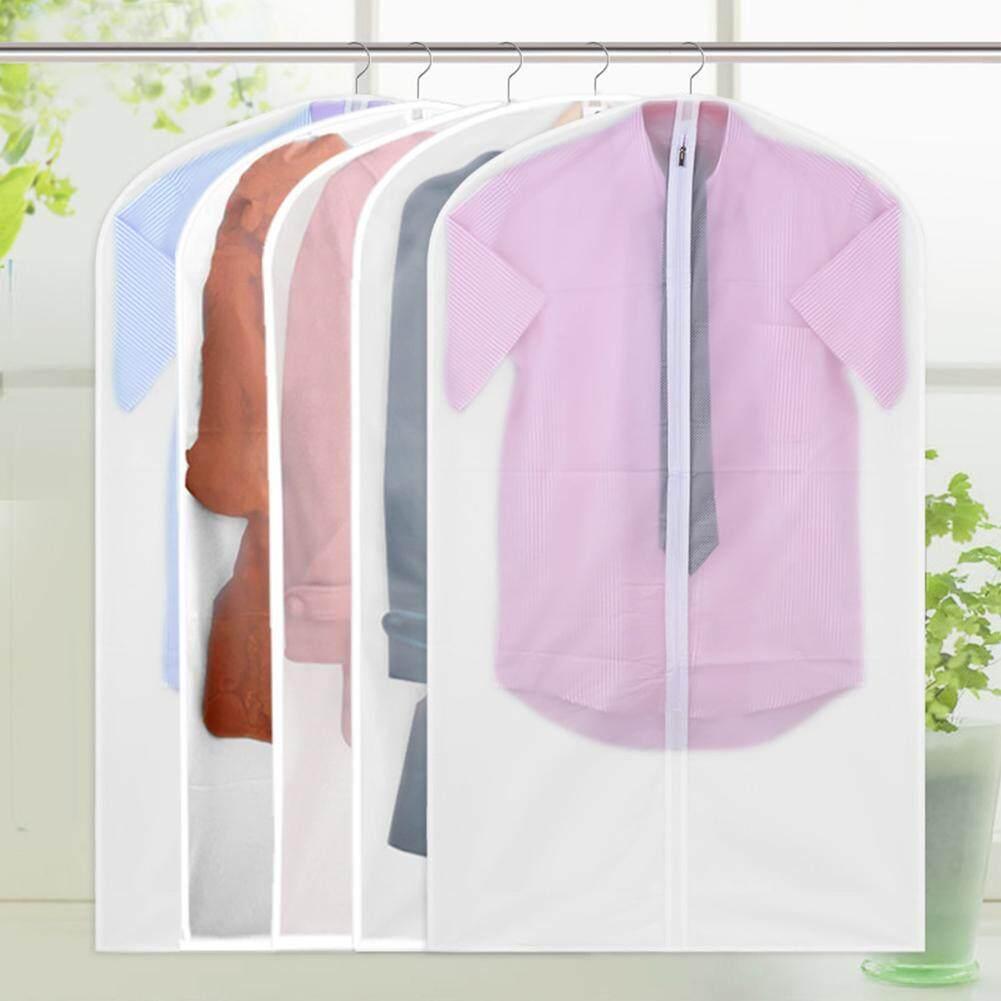 MG Washable Translucent Bag Coat Clothes Garment Suit Cover Bags Dustproof Hanger Storage Travel Organizer Wardrobe Clothes Storage