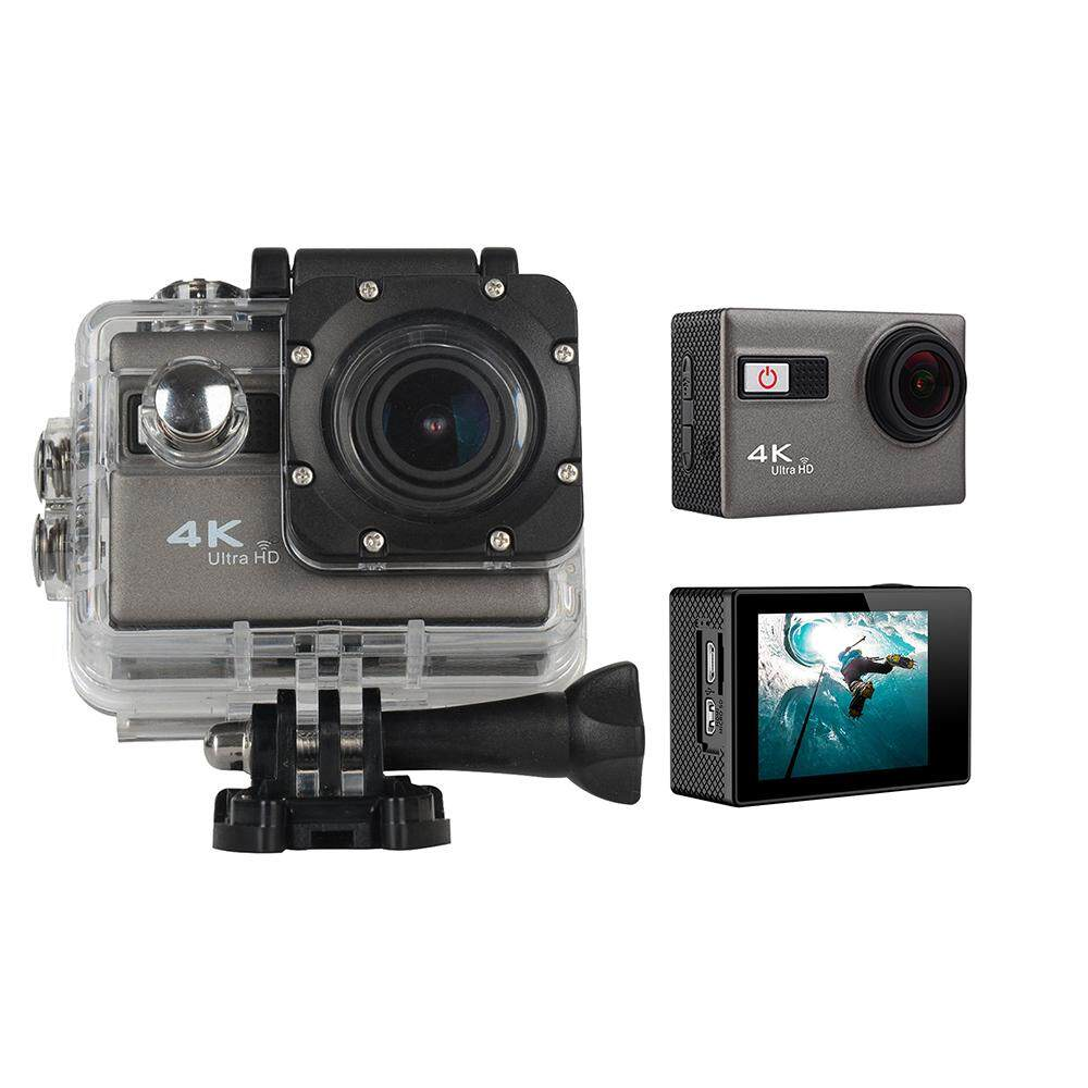 qooyonq WIFI 4K Ultra HD Sport Action Camera 1080P 60fps HDMI 20MP+ 170 Degree Wide Viewing Angle Waterproof DV Camcorder for Outdoor Sports, Silver - intl