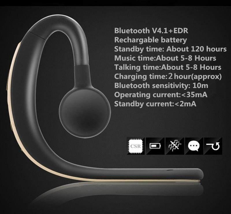 ของแท้ ลดราคา หูฟัง Miimall Miimall Zealot E5 ไร้สายชนิดใส่ในหูหูฟังรถยนต์, บลูทูธ 4.1 สเตอริโอเสียงยาวสแตนด์บายรถแฮนด์ฟรีหูฟังพร้อมไมโครโฟน Volum Control สำหรับสมาร์ทโฟน (iPhone X, ซัมซุงกาแล็คซี่ S9 PLUS/หมายเหตุ 8, Huawei P20 Pro, Google Pixel 2 XL ฯลฯ) ลดราคาและมีของแถม