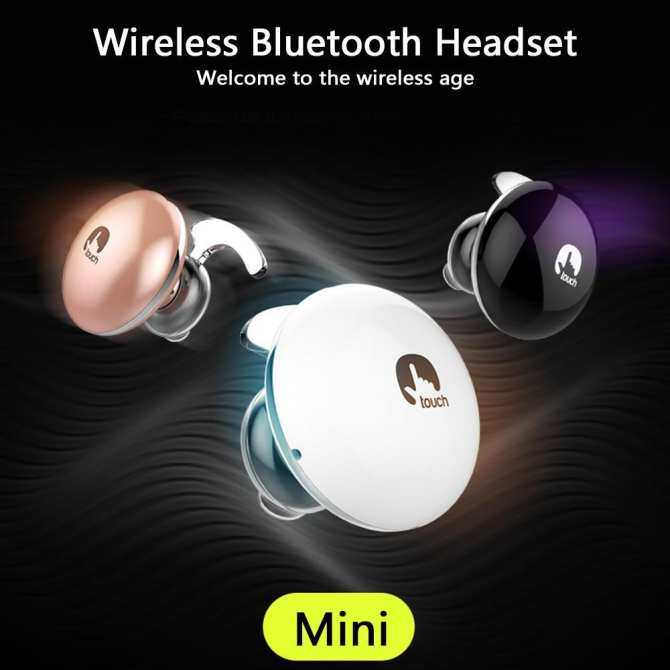 Hình ảnh yaobang Mini Touching Bluetooth Earphone, Bluetooth 4.1 Stereo Wireless Headphones With Touching Key Control - intl