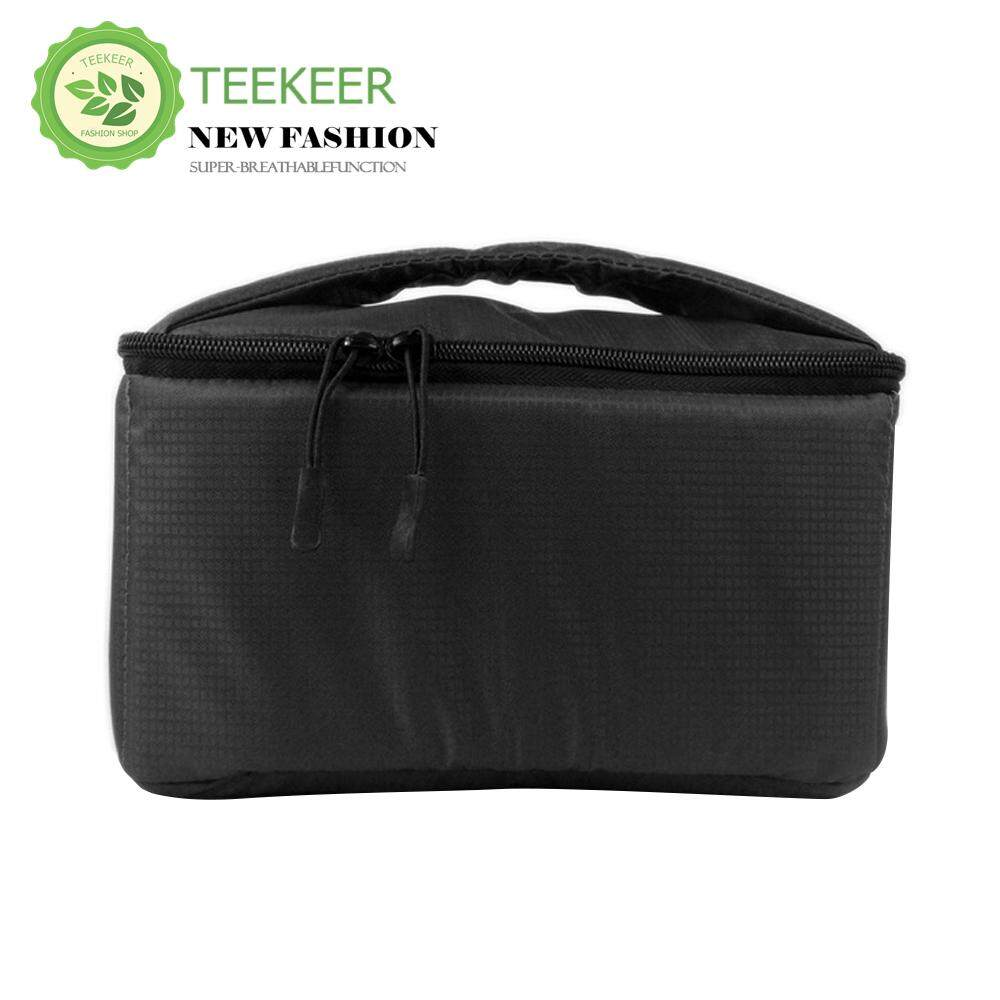 Teekeer DSLR Camera Insert Case Shockproof Waterproof Padded Partition Protective Bag Cover Travel For Sony Canon Nikon Olympus Pentax And More (Black)