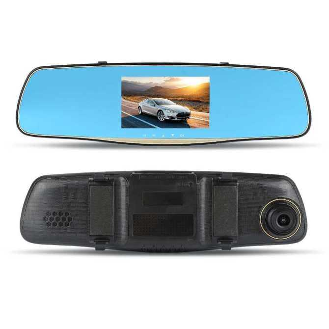 "5.0"" 1080P HD LCD Display Ultra Wide Angle Front Rear Camera dual recording Driving recorder on Rear view Mirror - intl"