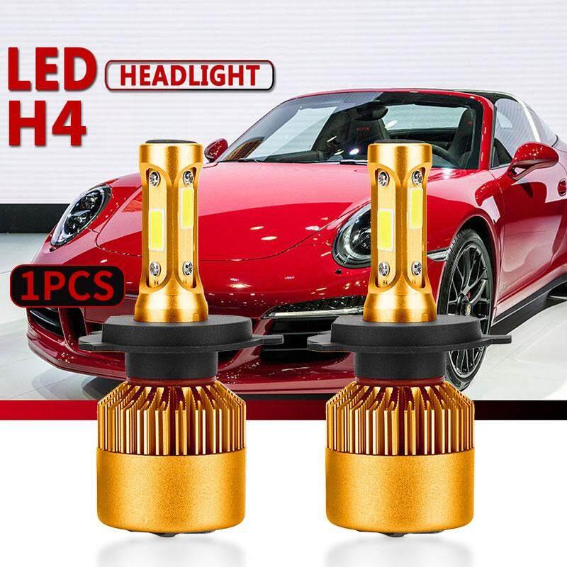 AUkEy Lampu Depan LED Lampu Depan Berkekuatan Tinggi H4 Emas Lampu Bohlam Mobil Styling