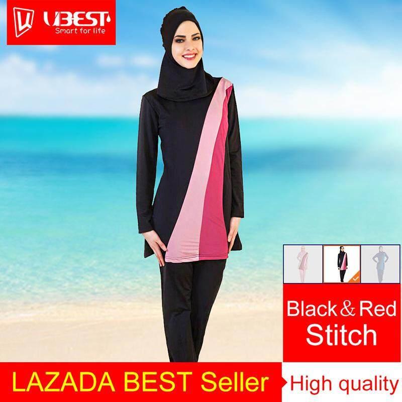 Muslimah High Quality Muslim Women Swimwear Islamic Swimsuit for Women  Hijab Swimwear Full Coverage Conservative Swimwear c434d2cf8f