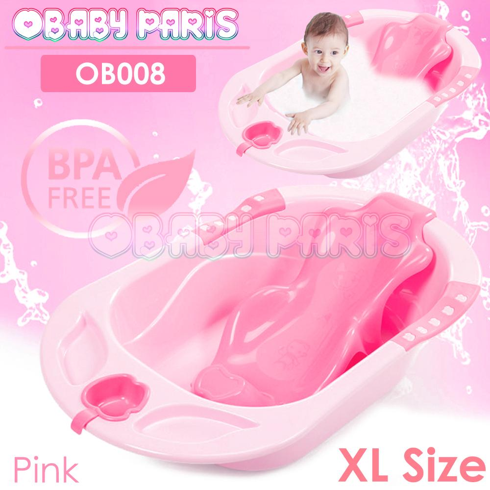 OBABY PARIS OB008 XL Size Baby Bath Tub with Support (Suitable for New Born till Age 5)