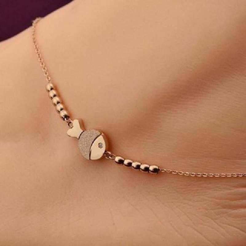 Exo Kepribadian Tim Logo Huruf Pasangan Pecinta Perhiasan Gelang Source · Small Fishtitanium Gelang Kaki Baja