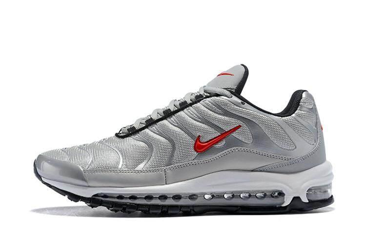 ยี่ห้อนี้ดีไหม  ลำพูน Nike_Original Air_Max_97 Plus Low Top MEN Global Sales Running Shoe ( Beige Black )