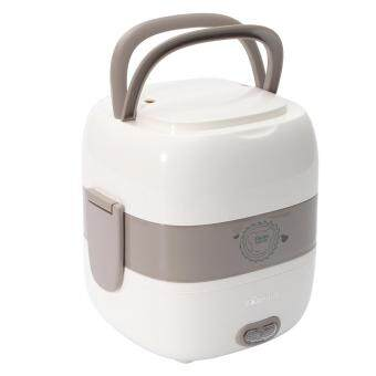 2 Layer Electric Portable Steamer Rice Cooker Food Heater Lunch Box 1.2L
