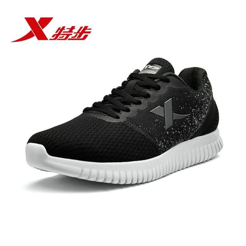Xtep Sneaker Sepatu Lari 2018 Musim Gugur Baru Sepatu Olahraga Bernapas Pria Kasual Latihan Lari Sepatu
