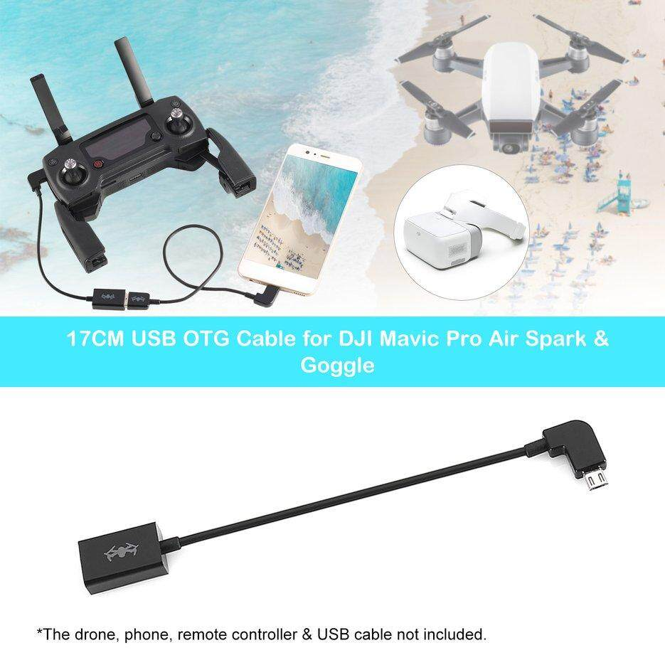 TOP 17CM USB OTG Cable for DJI Mavic Pro Air Spark Remote Controller & Goggle Black