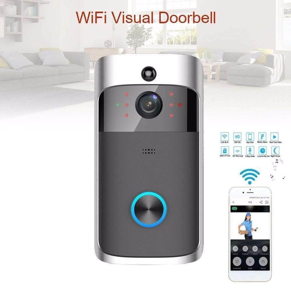 ZLOYI 1280*720P Multi function motion detection doorbell Wifi Wide Angels Visual doorbell Wireless Smart System Kit With Indoor Bell