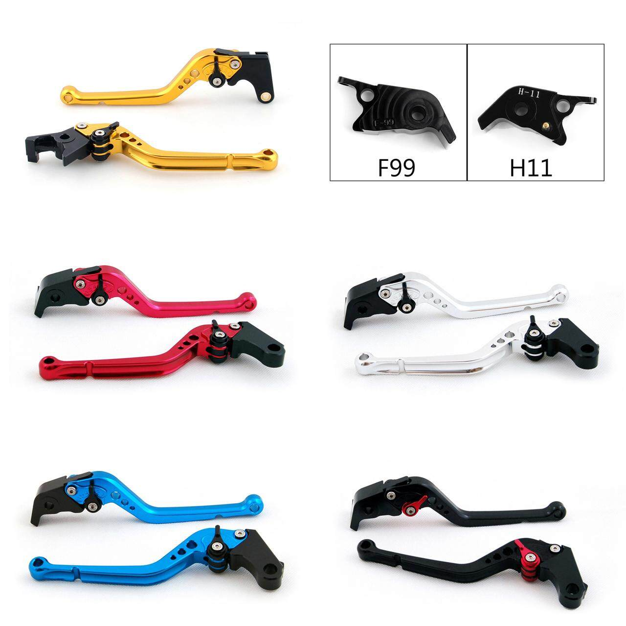 Standard Staff Length Adjustable Brake Clutch Levers Ducati 1198 S R (2009-2011)