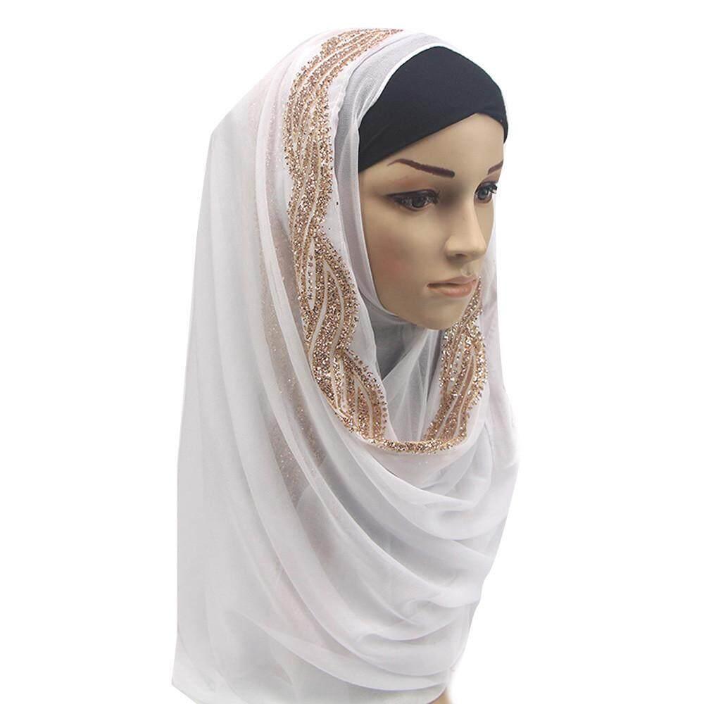 visitmini shop Fashion Diamonds Muslim Women Ramadan Shawl Scarf Head Cover Headscarf Muffler