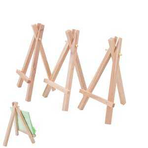 Hình ảnh Mini Wooden Table Card Stand Artwork Display Holder Craft Drawing Easel