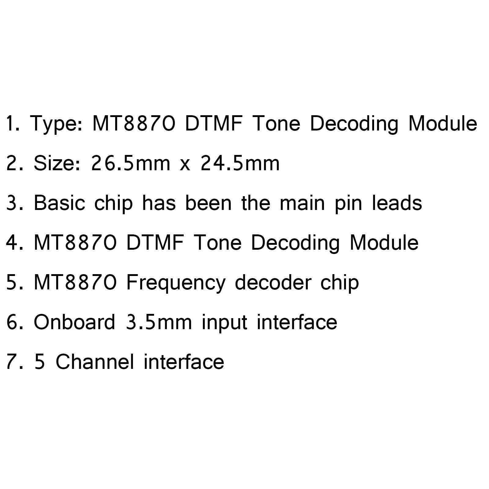 Areyourshop 1pcs Xd 61 Mt8870 Dtmf Tone Decoding Module Voice For Decoder Using Mt8870de Raspberry Pi Arduino Intl Gi Ch 106000