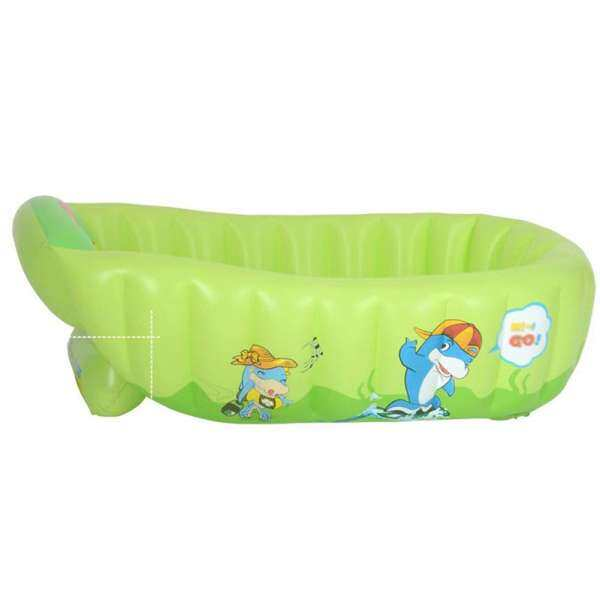 Veecome Inflatable Thicken PVC Bathtub Portable Foldable Shower Pool with Lazyback For Children