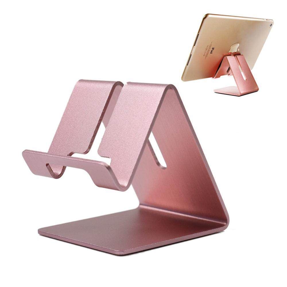 Phone Desk Stand Holder - Aluminum Desktop Solid Portable Universal Desk Stand For All Mobile Smart Phone Tablet Display By Lucky Charm.