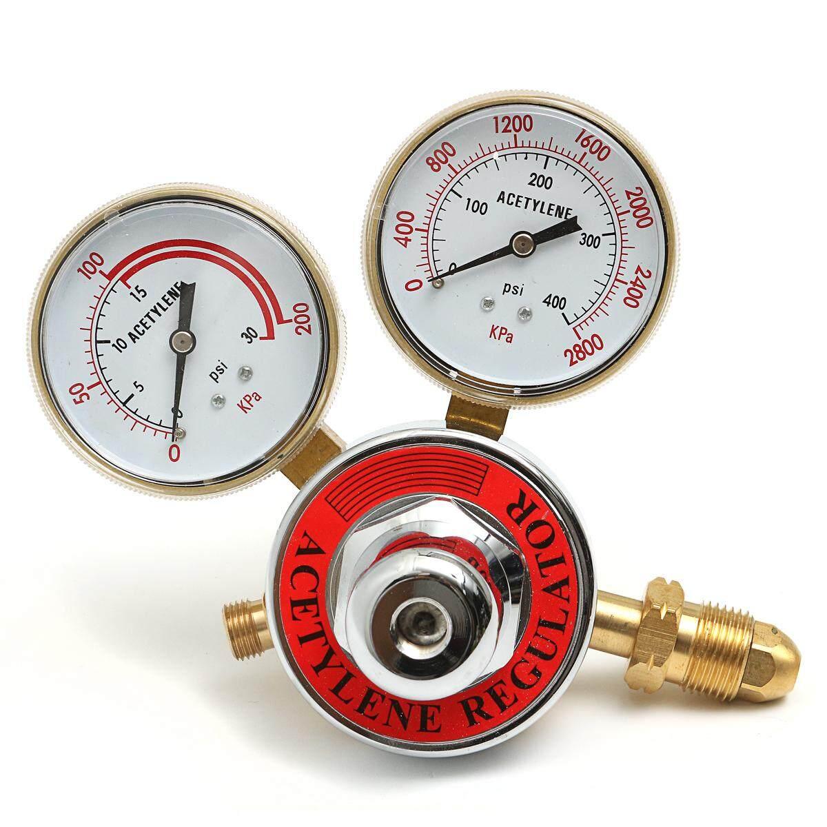 Welding Gas Welder Acetylene Regulator Compatible with Harris Victor Torch Cutting Kits CGA 510 Inlet Pressure 0-400 PSI