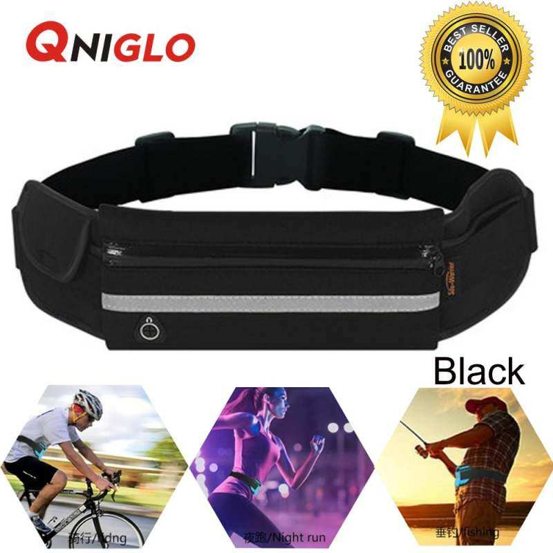 Qniglo Outdoor Sports Running Waterproof Waist Belt Phone Bag(black) By Better Me.