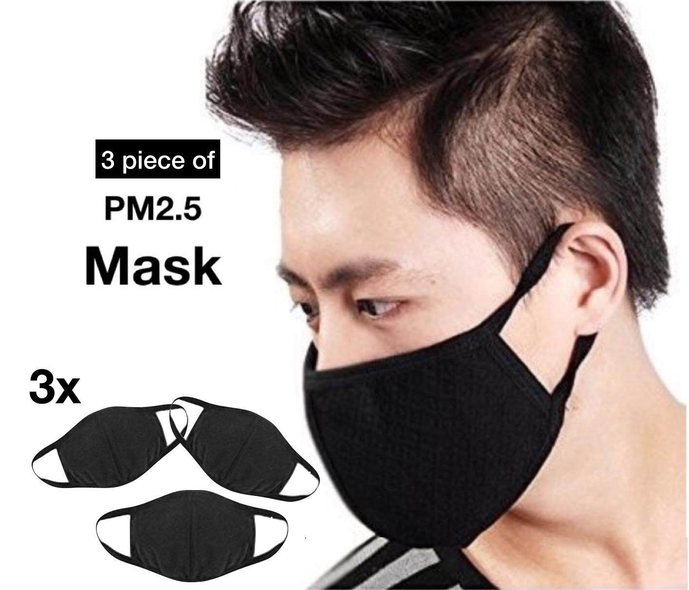 Dust Face 3pcs Men 100 Cycling 3 Respirator Layer Cotton Unisex Women Haze Mouth Mask Anti