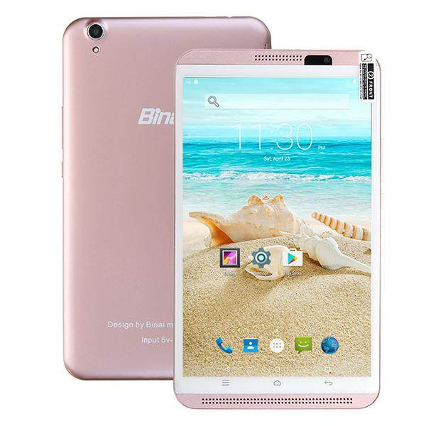 Binai Mini8HD 4G 16GB MTK6735 Quad Core Cortex A53 8 Inch Android 6.0 Phone Tablet Rose Gold