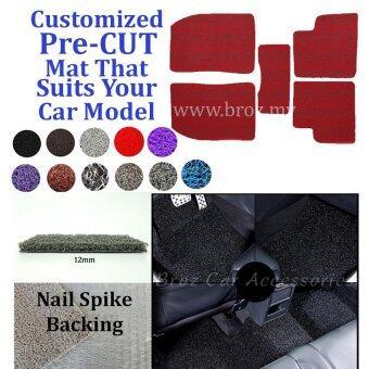 Axia 12MM Customized PRE CUT PVC Coil Floor Mat Anti Slip Carpet Nail Spike Backing - Red + Black