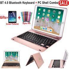Mới Cho Ipad 9.7 2017 2018 A1893 Không Dây Bàn Phím Bluetooth Ốp Lưng iPad 5/6/Air/ air 2/Pro 9.7 Bàn Phím + Bộ Phim + Tặng bút cảm ứng kiêm bút ký