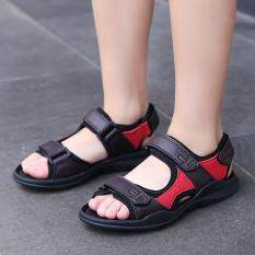 Non-slip Home School Shoes Leather Shoes Infant Girl Boy Summer Sandals Parents Shoes Brown – intl