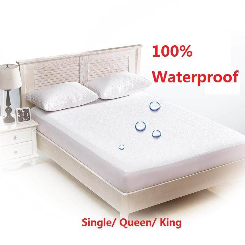 King Size Waterproof Mattress Protector Bed Topper Cover Hypoallergenic Soft