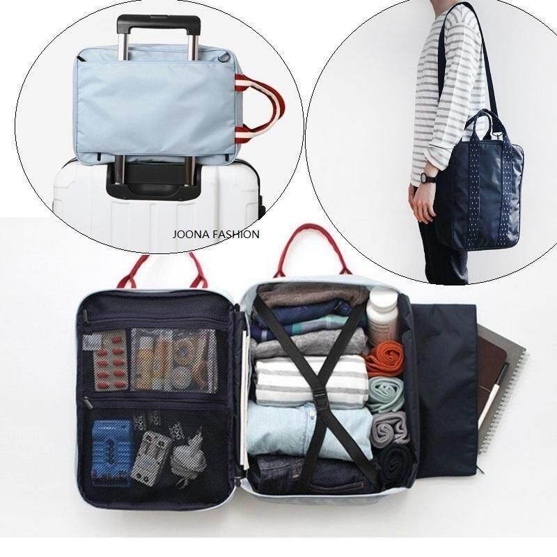 ee566583d595 Korea Travel Luggage Duffle Bag Lightweight Large Capacity Compact Travel  Garment Bag Sorting Storage Bag Portable Luggage Travel Bag Weekender Bag  ...