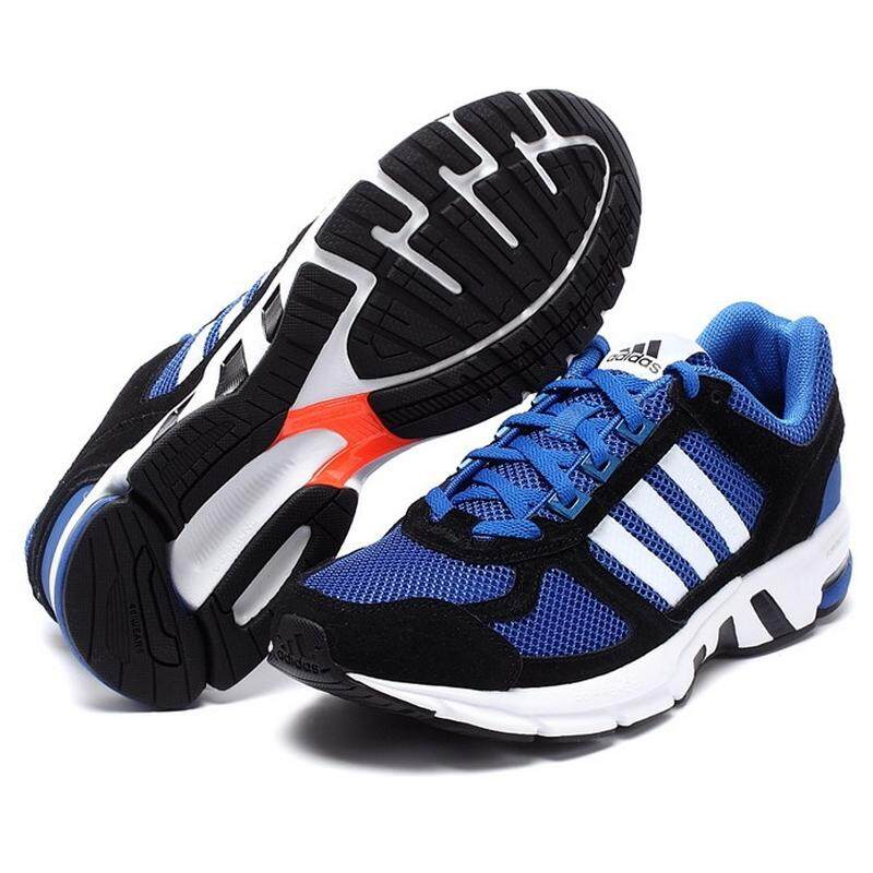 Adidas Equipment Men's Running Sneakers Shoes Breathable Sports Shoes (Black /Blue)