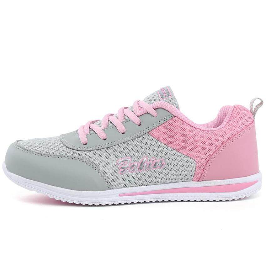 9b5337c0d4d Women Lace-up Mesh Breathables Gym Shoes Ultralight Running Shoes Sports  Outdoors