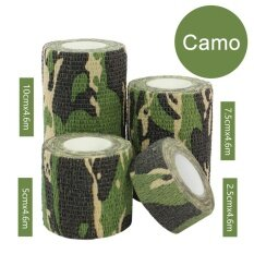1Rolls Waterproof Bandage Gauze Wraps Elastic Adhesive First Aid Tape Stretch 【Camo L】