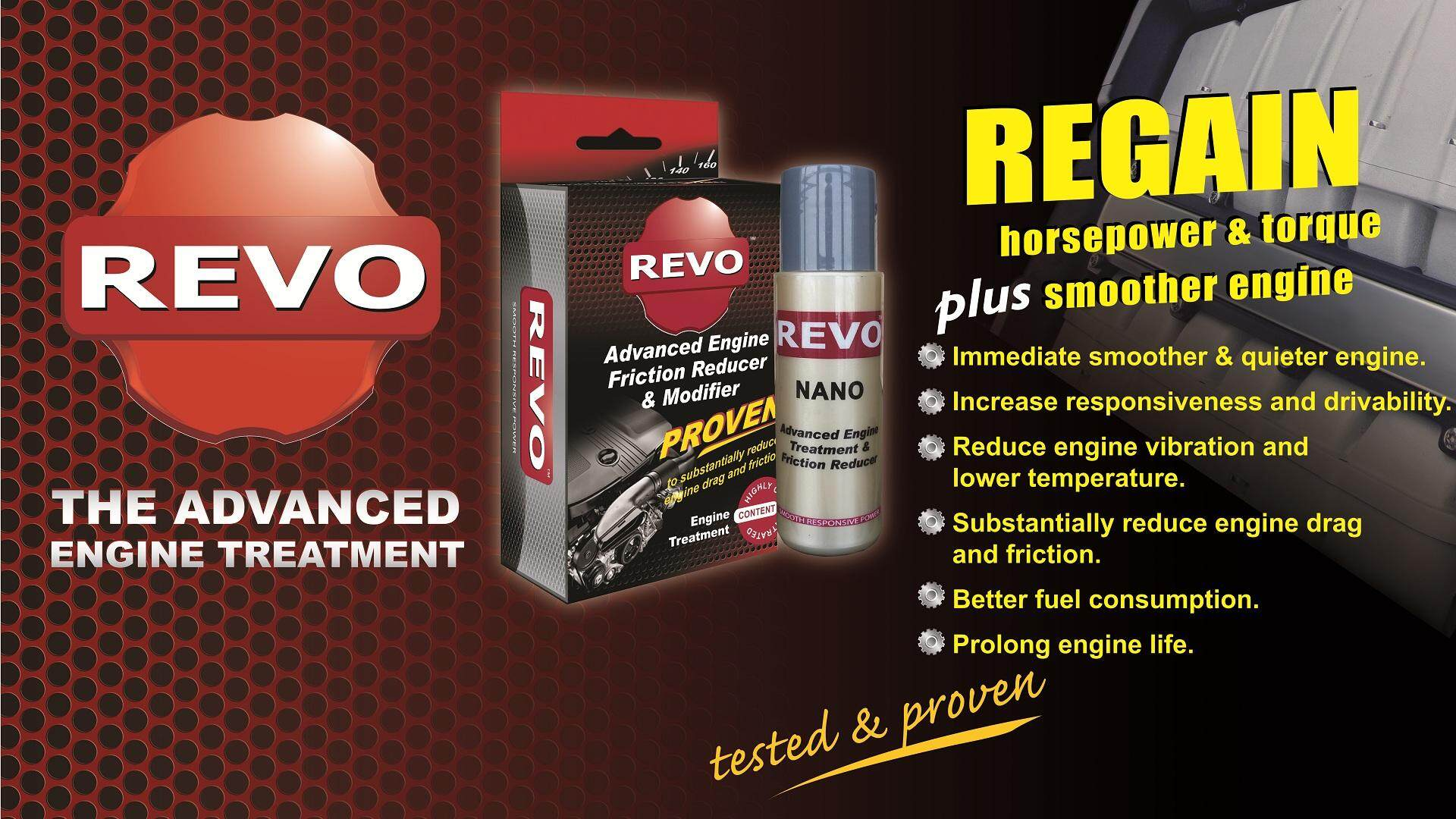 REVO Nano Advanced Engine Treatment(2 bottles) + KM+ Advanced Fuel  Additives(400liters fuel treatment) Suitable for petrol and diesel  (Official Store)