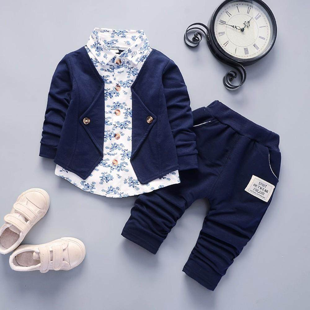 3d32b6cbd857c Free shipping Dotsonshop Kid Baby Boy Gentry Clothes Set Formal Party  Christening Wedding Tuxedo Bow Suit