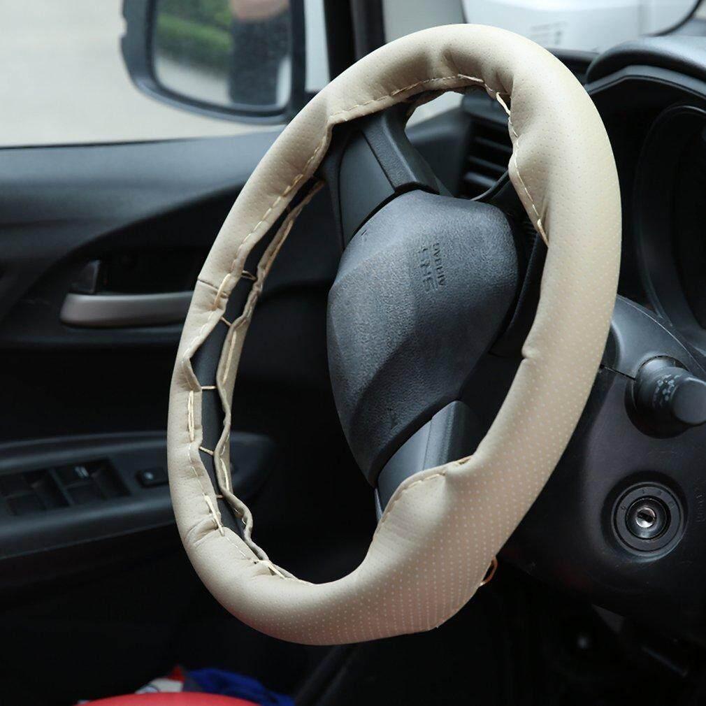 Jingle Auto Roda Kemudi Mobil Cover dengan Jarum dan Benang Kulit Penutup Mobil Suite