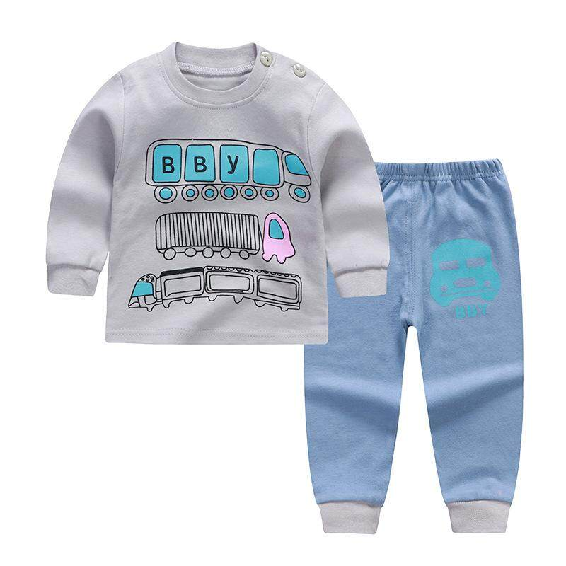47e65448c21e 100% Cotton Baby Kids Boys Clothing Set Sweatshirt Tops+Pants for 0-5 Years  Children Toddlers