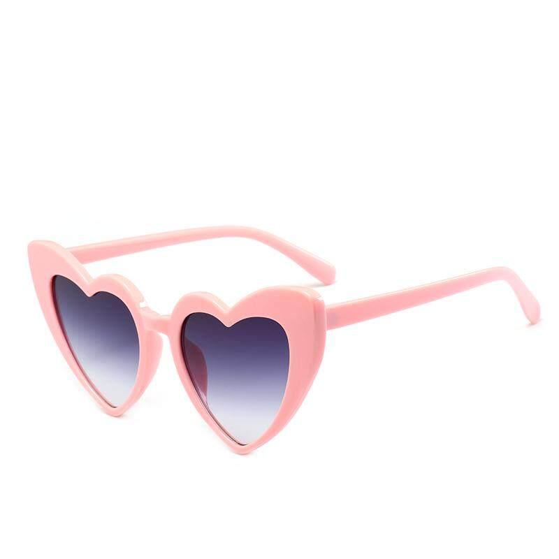 SEVEN DAYS 2019 New Fashion Heart Shaped Sunglasses Women Plastic Reflective Sun Glasses UV400 girl oculos de sol