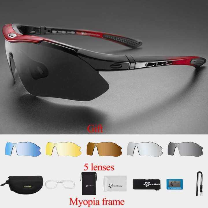 d865c8b131 RockBros Polarized Cycling Bike Sun Glasses Outdoor Sports Bicycle Bike  Sunglasses TR90 Goggles Eyewear 5 Lens