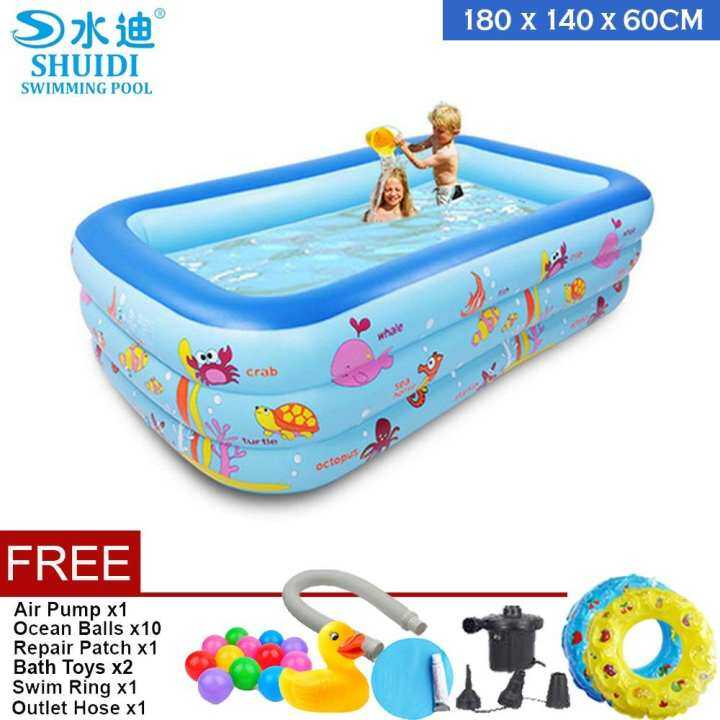 Shuidi 1 8 meter medium size inflatable swimming pools - How many litres in a swimming pool ...