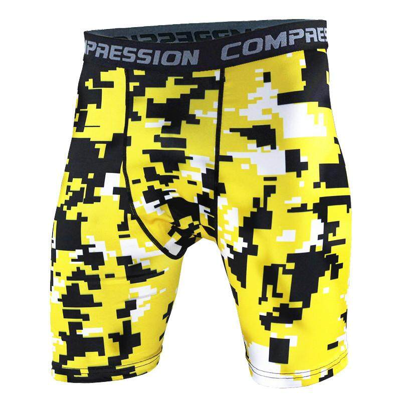 Carterstory Men's Tight Training Sports Fitness Shorts Moisture Absorption Sweat Speed Dry Running Camouflage Shorts Tight Pants.