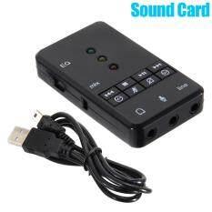 Giá sốc YBC 7.1 Kênh Bên Ngoài USB2.0 Card Âm Thanh với 3.5 mét Tai Nghe Mic 3D có Âm Thanh-quốc tế Tại Your BestChoice