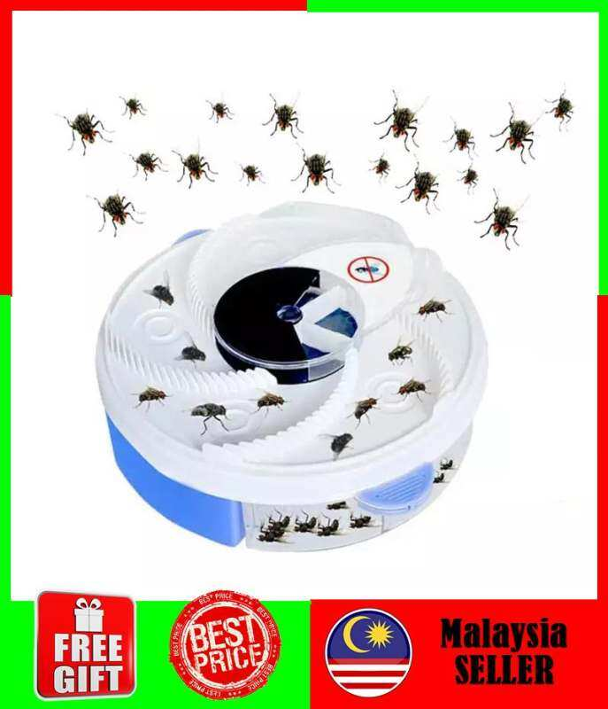 Top Quality Automatic Electric Fly Trap Device with Trapping Food Perangkap Lalat